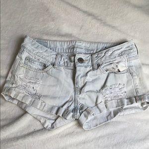 AE denim ripped shorts